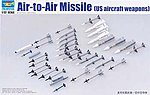 US Aircraft Weapons Set Air-to-Air Missiles -- Plastic Model Military Diorama -- 1/32 Scale -- #3303