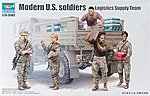 Modern US Soldiers Logistics Supply Team Figure Set -- Plastic Model Kit -- 1/35 Scale -- #429