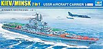 USSR Minsk (Kiev) Aircraft Carrier (2 in 1) -- Plastic Model Military Ship -- 1/550 Scale -- #5207