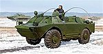 Russian BRDM-2UM Amphibious Command Vehicle -- Plastic Model Military Kit -- 1/35 Scale -- #5514