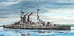 HMS Warspite Battleship 1915 -- Plastic Model Military Ship -- 1/700 Scale -- #5780