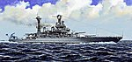 USS California BB44 Battleship 1941 -- Plastic Model Military Ship Kit -- 1/700 Scale -- #5783