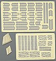 USS Arizona BB39 Upgrade Set for #3701 -- Plastic Model Ship Accessory -- 1/200 Scale -- #6621