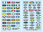 USS Missouri Signal Flags for Kit #3705 -- Plastic Model Ship Accessory -- 1/200 Scale -- #6630