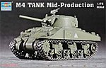 US M4 Medium Sherman Tank -- Plastic Model Military Vehicle -- 1/72 Scale -- #7223