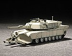 US M1A1 Abrams Mine Clearing Tank -- Plastic Model Military Vehicle -- 1/72 Scale -- #7277