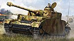 German PzKpfw IV Ausf.H Medium Tank -- Plastic Model Military Vehicle Kit -- 1/16 Scale -- #920