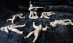 Plains Indians w/Casualties Dismounted Playset (12) -- Plastic Model Military Figure -- 1/32 -- #18