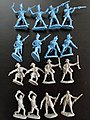 The Alamo Combat Texan & Mexican Playset (16) -- Plastic Model Military Figure -- 1/32 -- #25