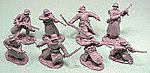 WWII German Soldiers in Long Coats Figure Playset -- Plastic Model Military Figure -- 1/32 -- #4