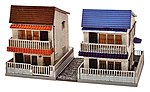 City Townhouse Kits (2) -- N Scale Model Railroad Building -- #257394
