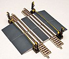Railroad Crossing D w/o Track -- N Scale Model Railroad Accessory -- #258667