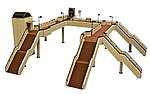 Pedestrian Overpass Kit -- N Scale Model Railroad Road Accessory -- #260653
