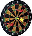Magnetic Dart Set Board (11.5'') with 6 Darts -- Novelty Toy -- #3121
