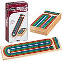 Triple Track Wood Cribbage Board -- Card Game -- #6392