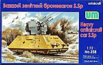 SSp Heavy Anti-Aircraft Railcar -- Plastic Model Military Vehicle Kit -- 1/72 Scale -- #258