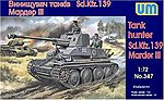 Marder III SdKfz 139 WWII German Tank Hunter -- Plastic Model Tank Kit -- 1/72 -- #347