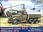 AS2 Airfield Starter on GAZ-AAA Truck Chassis -- Plastic Model Military Truck Kit -- 1/48 -- #506