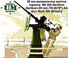 British Oerlikon 20mm/70 (0,79'') Mk IIIA AA Gun -- Plastic Model Artillery Kit -- 1/72 -- #651