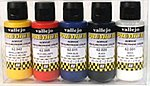 60ml Bottle Candy Color Premium Paint Set (5 Colors) -- Hobby and Model Paint Set -- #62104