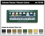 17ml Bottle Panzer Model Color Paint Set (8 Colors) -- Hobby and Model Paint Set -- #70108