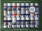 17ml Bottle Napoleonic Model Color Paint Set (16 Colors) -- Hobby and Model Paint Set -- #70110