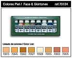 Face & Skin Tones Model Color Paint Set (8 Colors) -- Hobby and Model Paints -- #70124