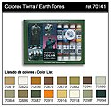 17ml Bottle Earth Tones Model Color Paint Set (16 Colors) -- Hobby and Model Paint Set -- #70141