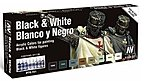 Black and White Color Paint Set (8 Colors) -- Hobby and Model Paint Set -- #70151