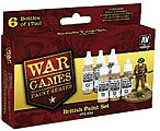 British Army WWII War Games Paint Set (6 Colors) -- Hobby and Model Paint Set -- #70153