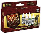 German SS Forces WWII War Games Paint Set (6 Colors) -- Hobby and Model Paint Set -- #70158
