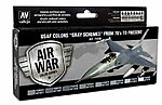 17ml Bottle USAF Colors Gray Schemes from 70's to Present Model Air Paint Set (8 Colors)