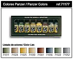 Panzer Model Air Paint Set (8 Colors) -- Hobby and Model Paint Set -- #71177