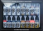 Metallics Model Air Paint Set (16 Colors) -- Hobby and Model Paint Set -- #71181