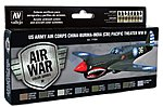 US Army Air Corps China-Burma-India Pacific Theater Paint Set -- Model Air Paint Set -- #71184
