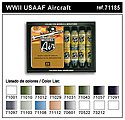 WWII USAAF Model Air Paint Set (16 Colors) -- Hobby and Model Paint Set -- #71185