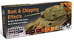 Rust & Chipping Effects Model Air Paint Set (8 Colors) -- Hobby and Model -- #71186
