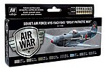 17ml Bottle Soviet Air Force VVS 1943 to 1945 Great Patriotic War Model Air Paint Set (8 Colors)