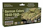 17ml Bottle German Vehicle Camouflage Colors (8 Colors) -- Hobby and Model Paint Set -- #71206