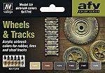 17ml Bottle Wheels & Tracks Model Air Paint Set (6 Colors)