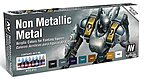 Non Metallic Metal Game Color Paint Set (8 Colors) -- Hobby and Model Paint Set -- #72212