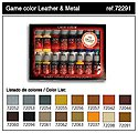 Leather & Metal Game Color Paint Set (16 Colors) -- Hobby and Model Paint -- #72291