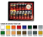 Introduction Game Color Paint Set (16 Colors) -- Hobby and Model Paint Set -- #72299
