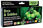 17ml Bottle Orcs & Goblins Game Color Paint Set (8 Colors)