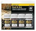 30ml Bottle Dust & Dirt Pigment Powder Set (4 Colors) -- Hobby and Model Paint Set -- #73190