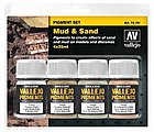 35ml Bottle Mud & Sand Pigment Powder Set (4 Colors) -- Hobby and Model Paint Set -- #73191