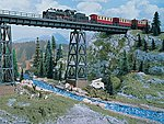 Halle Viaduct -- HO Scale Model Railroad Bridge -- #2550