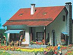 Country House Kit -- HO Scale Model Railroad Building -- #3713