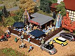 Beer Garden Kit -- HO Scale Model Railroad Building -- #43784
