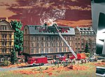 Burning IRS Office Kit -- HO Scale Model Railroad Building -- #43785